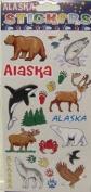 Alaska Scrapbooking Craft Sticker Sheet Wildlife