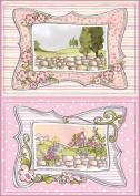 Loralie Die-Cut Punch-Out Sheet 20cm x 30cm -Fairy Frames A5 Pink W/Silver Foil