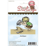 Little Darlings Unmounted Rubber Stamp-Architect