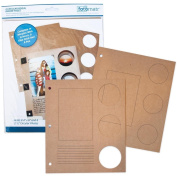 Fotomatr Circular-Reveal Binder Pages 4/Pkg-