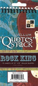 "DCWV QS-013-00004 Rockstar Vellum Quote Stack- ""Rock King"""