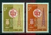 South Vietnam Stamps - 1965, Scott 253-4, ITU Centenary, MNH, F-VF