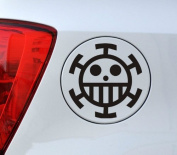 One Piece Anime - Cartoon Decal Vinyl Car Sticker 4.5 × 11cm