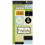 Hampton Friends Chipboard Embellishments