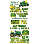 John Deere Contemporary Jumbo Stickers-Phrase