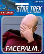 Star Trek The Next Generation Picard Facepalm Sticker