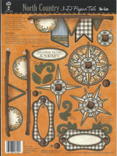 North Country 3D Papier Paper Tole Die Cuts Compass Walking Sticks HOTP Hot Off The Press New