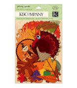 Fall Harvest Die-Cut Cardstock Shapes, Set of 134