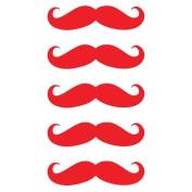 5.1cm Moustache Vinyl Decal Sticker Set - 5 Pack