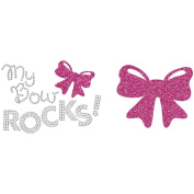 Uptown Baby Glitter Colour Iron-On Transfer-My Bow Rocks