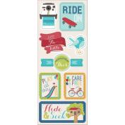 Childhood Memories Chipboard Stickers 12cm x 30cm -Hide & Seek