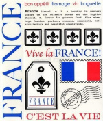 France Say It with Stickers Scrapbook Stickers