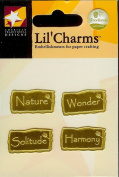 Nature Words Gold Lil' Charms for Scrapbooking