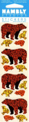 Brown Bear Sparkle Scrapbook Stickers