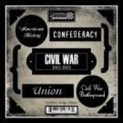 Civil War Antique Cardstock Scrapbook Stickers