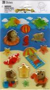 Beach Animals Epoxy Scrapbook Stickers