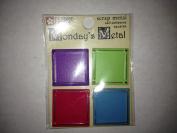 Bright Squares Monday's Metals Scrapbook Stickers