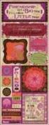 Bo Bunny Press - Garden Girl Collection - Cardstock Stickers - Friendship
