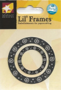 Silver Swirl Frame Lil' Frames for Scrapbooking