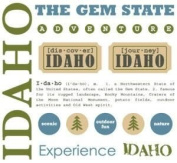 Idaho Stickers USA // SRM Stickers
