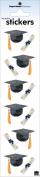 Graduation Caps and Diplomas Sticky Pix Scrapbook Stickers