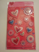 Dimensional Hearts Scrapbook Stickers