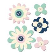 Trend Setter Felt Flowers 5/Pkg-