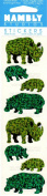 Hippo Rhinoceros Rhino Sparkle Scrapbook Stickers
