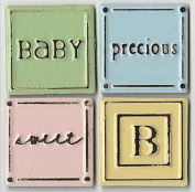 Baby Precious Sweet Squares Monday's Metals Scrapbook Stickers