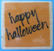 Vap! Scrap - Happy Halloween Stamp with Wood Base