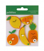 Pebbles Fruit Layered Embellishments in Orange and Yellow