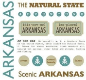 Arkansas Stickers USA // SRM Stickers