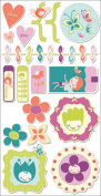 Cosmo Cricket Pixie-Licious Ready Set Chipboard Stickers, 15cm -by-30cm