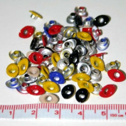 0.3cm Assorted Top Painted Aluminium Oval Eyelets - 50 Pack