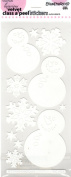Super Snowman Velvet White Class A'Peels Scrapbook Stickers