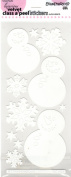 Super Snowman Velvet White Class A'Peels Scrapbook Stickers