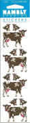 Cow Calves Sparkle Scrapbook Stickers
