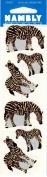 Zebra Sparkle Scrapbook Stickers