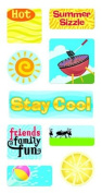 Summer Sizzle Lenticular Motion Scrapbook Stickers