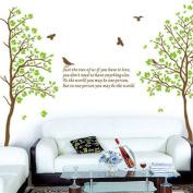 Tree Bird Removable Wall Vinyl Sticker Decals Wallpaper LW5743