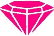 Hot Pink Diamond Sticker Decal 15cm