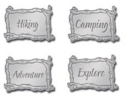 Twig Words Silver Lil' Charms for Scrapbooking
