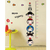 Cat height measure Removable Wall Sticker Decals Wallpaper For Children kids LW57_656