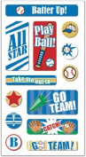 Baseball Lenticular Motion Scrapbook Stickers