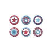Red White & Blue Mini Badges