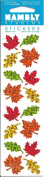 Mini Autumn Leaves Sparkle Scrapbook Stickers