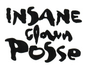Insane Clown Posse Logo Rub-On Sticker BLACK
