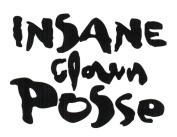 Insane Clown Posse Logo Rub-On Sticker BLACK