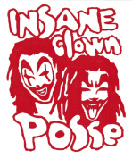 Insane Clown Posse Band Logo Rub-On Sticker RED