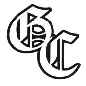 Good Charlotte Monogram Rub-On Sticker BLACK